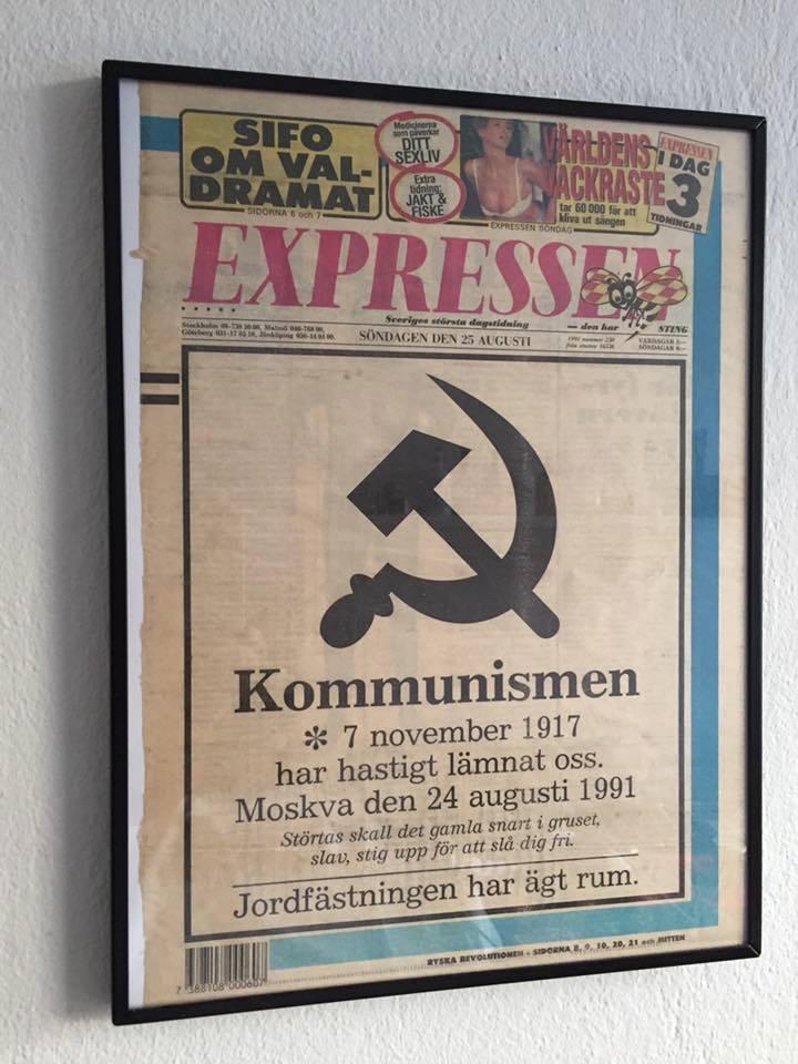 Expressen den 25 augusti 1991. Bild lånad av Andreas Henriksson som i sin tur fått den av Carl Johan Casserberg.
